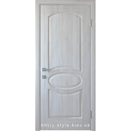Двері Овал Новий Стиль ясен new (ПВХ DeLuxe) глухе