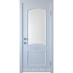 Двері Донна Новий Стиль білий (ПВХ) скло з малюнком Р1