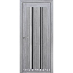 Двери Верона С1 Новый Стиль перла серебряная (Смарт) с черным стеклом