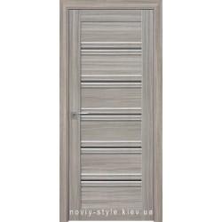 Двери Виченца С1 Новый Стиль перла magica (Смарт) с черным стеклом