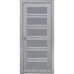 Двері Віченца С2 Новий Стиль перла срібна (Смарт) зі склом графіт