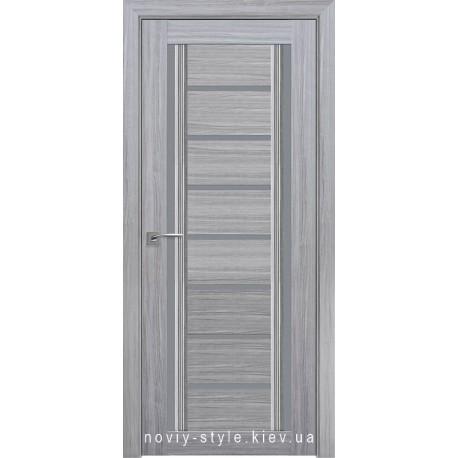 Двері Флоренція С2 Новий Стиль перла срібна (Смарт) зі склом графіт