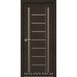 Двері Флоренція С2 Новий Стиль перла кавова (Смарт) зі склом бронза