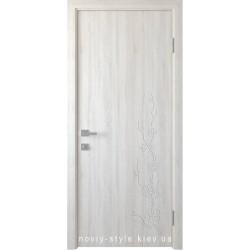 Двери Сакура Новый Стиль ясень new (ПВХ DeLuxe) глухое