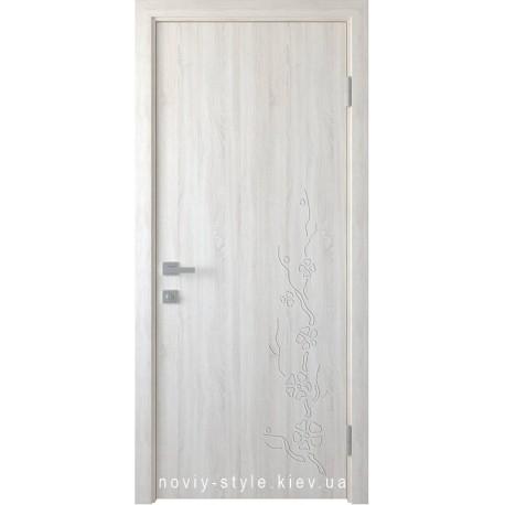 Двері Сакура Новий Стиль ясен new (ПВХ DeLuxe) глухе