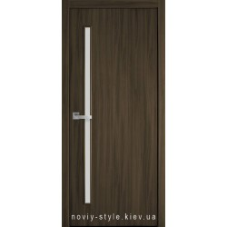 Двери Глория Новый Стиль кедр (экошпон) с матовым стеклом