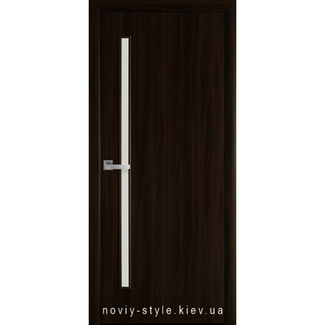 Двери Глория Новый Стиль венге brown (экошпон) с матовым стеклом