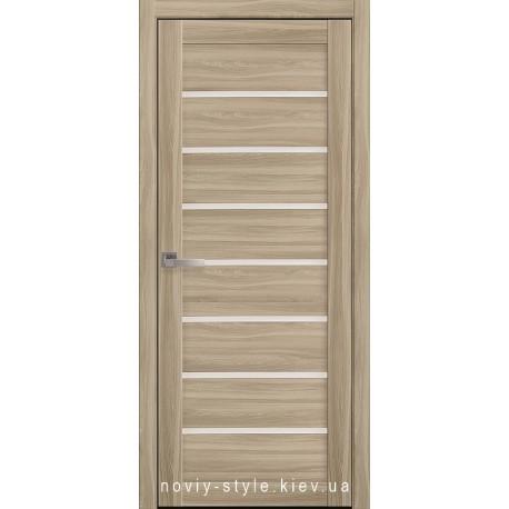 Двери Леона Новый Стиль сандал (экошпон) с матовым стеклом