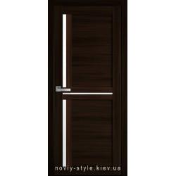Двері Трініті Новий Стиль венге brown (екошпон) з матовим склом