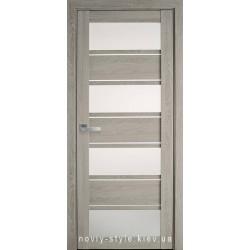 Двери Элиза Новый Стиль дуб дымчатый (ПВХ Ultra) с матовым стеклом