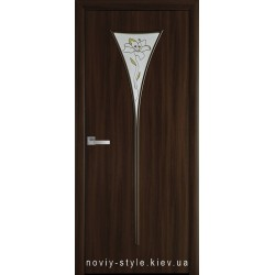 Двери Бора Новый Стиль орех 3d (экошпон) стекло с рисунком Р1