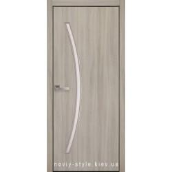 Двери Дива Новый Стиль ясень патина (экошпон) с матовым стеклом