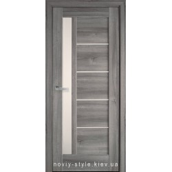 Двери Грета Новый Стиль бук пепельный (ПВХ DeLuxe) с матовым стеклом