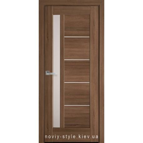 Двері Грета Новий Стиль золота вільха (ПВХ DeLuxe) з матовим склом