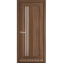Двери Делла Новый Стиль золотая ольха (ПВХ DeLuxe) с матовым стеклом