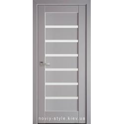 Двери Линнея Новый Стиль серая пастель (Premium) с матовым стеклом