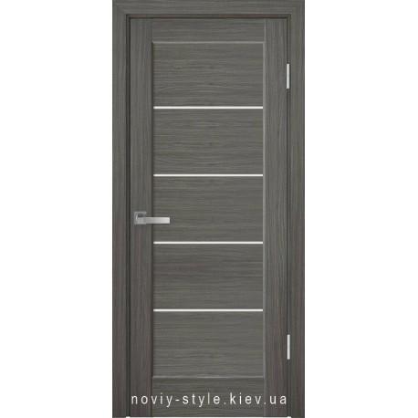 Двері Миру Новий Стиль grey new (ПВХ DeLuxe) з матовим склом