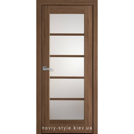 Двери Муза Новый Стиль золотая ольха (ПВХ DeLuxe) с матовым стеклом
