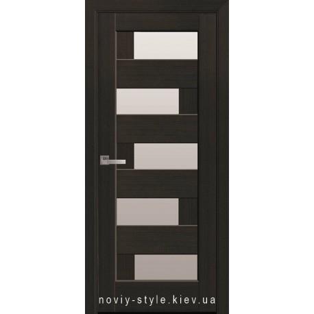 Двері Пиана Новий Стиль венге new (ПВХ DeLuxe) з матовим склом