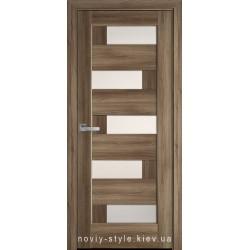 Двери Пиана Новый Стиль золотой дуб (ПВХ DeLuxe) с матовым стеклом