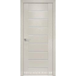 Двери Парма Новый Стиль X-беж (Orni-X) с матовым стеклом