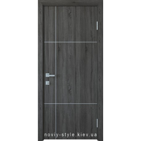 Двері Ніка silver Новий Стиль grey new (ПВХ DeLuxe) глухе