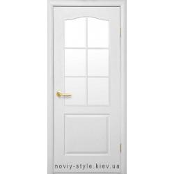 Двері Класик Новий Стиль під фарбування (грунтоване) з матовим склом