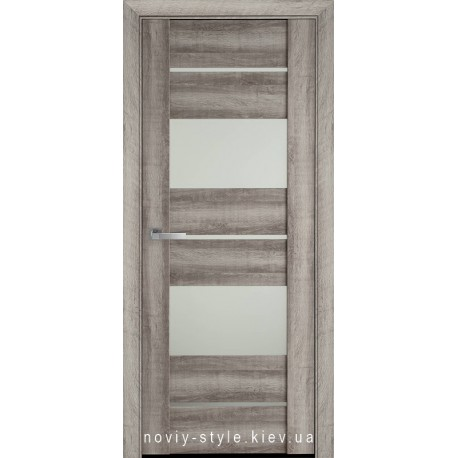 Двері Аскона Новий Стиль бук баварський з матовим склом