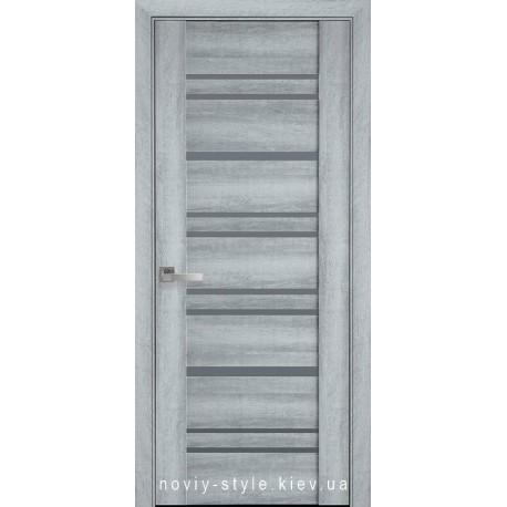 Двери Валенсия Новый Стиль ясень new (ПВХ DeLuxe) с матовым стеклом