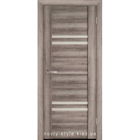 Двері Меріда Новий Стиль бук баварський з матовим склом