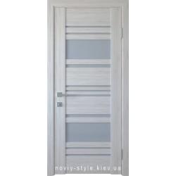 Двері Ніцца Новий Стиль ясен new (ПВХ DeLuxe) зі склом графіт