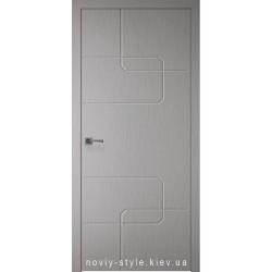 Двері Кубо (Kubo) Новий Стиль Х-Хром Silk глухе