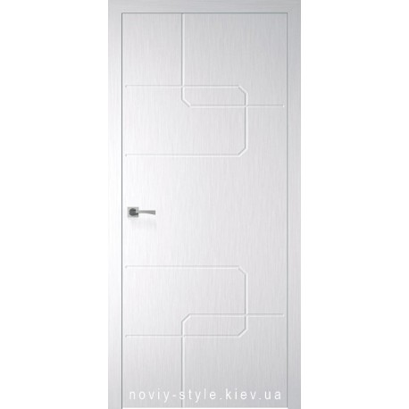 Двері Кубо (Kubo) Новий Стиль Х-Білий Silk глухе