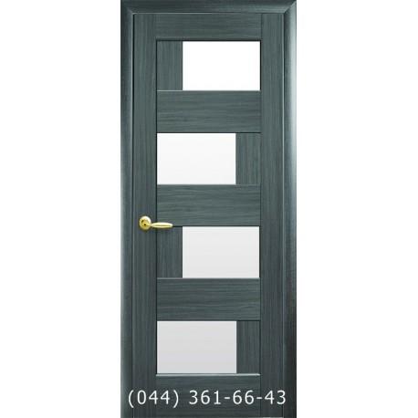 Двери Сиена grey с матовым стеклом