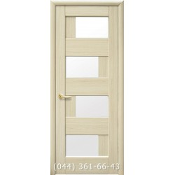Двери Сиена ясень с матовым стеклом