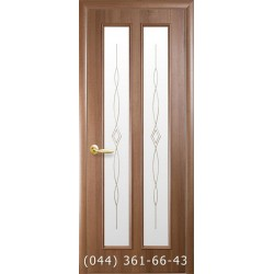 Двери Стелла золотая ольха стекло с рисунком р2