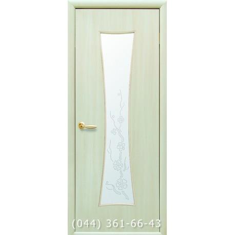 Двери Часы дуб жемчужный стекло с рисунком р4
