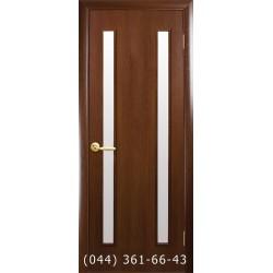 Двери Вера орех 3d с матовым стеклом