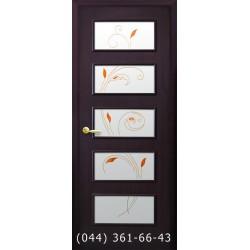 Двери Ева венге 3d стекло с рисунком р1