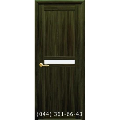 Двери Неона Новый Стиль кедр (экошпон) с матовым стеклом