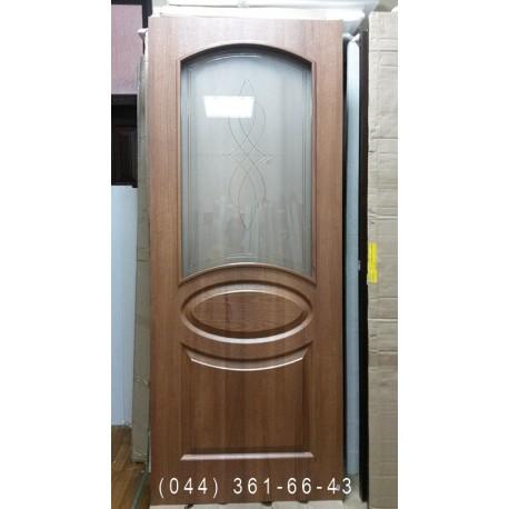 Двери Фортис R (Овал) 80 см золотая ольха Новый Стиль распродажа