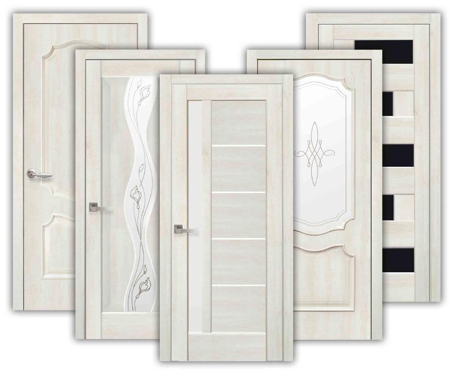 Моделі дверей Новий Стиль в декорі Ясень NEW