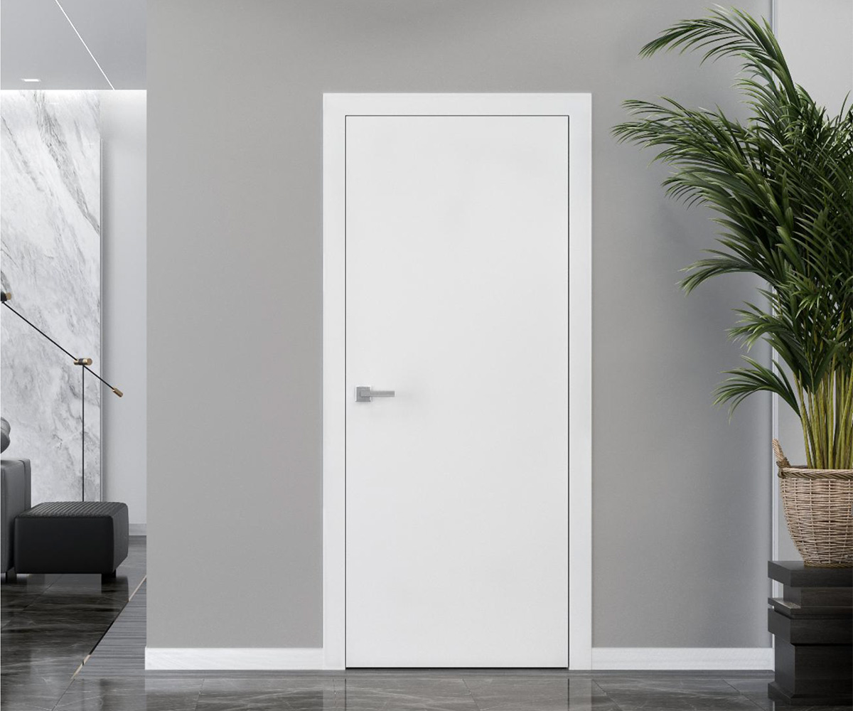 Двері Стандарт в білому кольорі в інтер'єрі