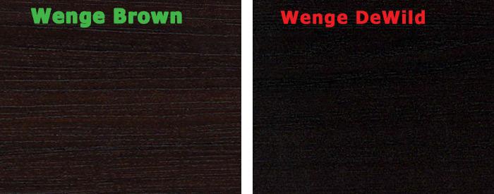 Порівняння декорів Wenge Brown і Wenge DeWild